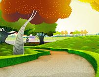 2D animation BG