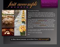 Newsletter design   fait accompli events