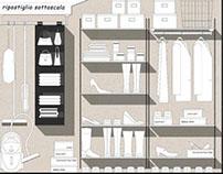 Organizzazione di ambienti accessori con Ikea