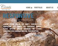 Cenis experimental homepage Web design
