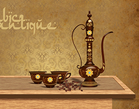 Antique Arabic Coffee Set