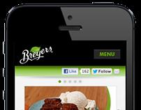 Breyers Mobile Website