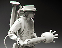 Steampunk Ghostbuster 1/35 scale collectible