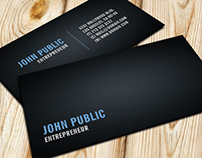 Black Business Card with Tile Pattern
