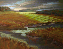 Cloud Breaks on the Marsh #1. Essex