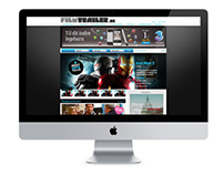 Movie trailer site mockup