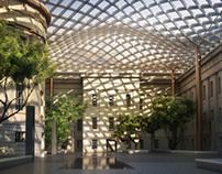 Smithsonian Portrait Gallery courtyard