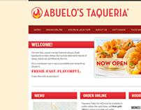 Abuelo's Taqueria Website (2012)