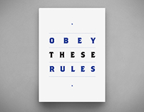 Obey These Rules — Book