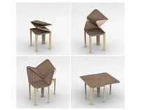 Origami table for John Lewis