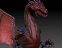 Volcanic Dragon - Digital Sculpting
