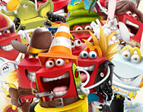 MC DONALD'S - HAPPY MEAL | Cards Game characters
