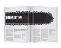 """Deforesting The Earth"" Magazine Spread"