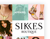 SIKKES Boutique Web Design