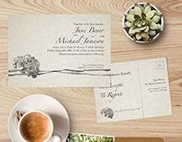 Hydrangea Wedding Invitation — Larimore Plantation