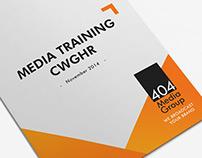 MEDIA TRAINING  CWGHR  NOVEMBER 2014