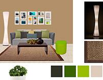 Conceptual Board Interior Design