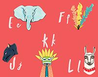 A Slightly Peculiar Adventure Alphabet | Poster + Zine