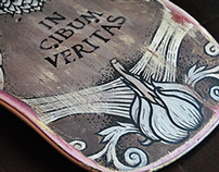 IN CIBUM VERITAS. Skateboard design