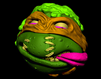 Teenage Mutant Ninja Turtle Madballs Mikey
