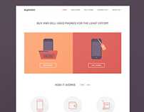Buy Sell Used Phones Web Site Concept