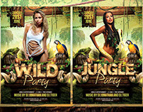 Jungle and Wild Flyer Template