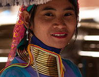 Portraits of Women in the Padaung tribe, North Thailand