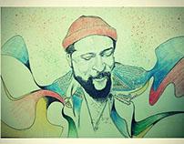 Marvin Gaye illustration portrait : FEEL IT SOUL MUSIC