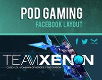 Facebook Layout _ Team Xenon (Planet POD Gaming)