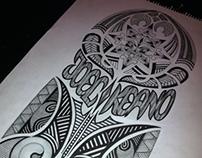 Maori-Style Totem Tattoo