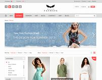 The New Fashion Shop - PSD
