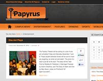 Papyrus website design