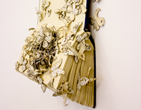 Book Sculpture: Plagued by Doubt