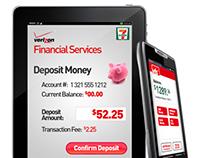 VZW - Financial Services Mobile UI Design