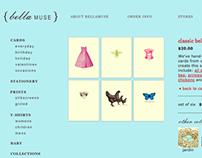 BellaMuse Website Pages
