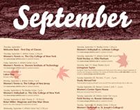 Ramapo College Calendar Posters