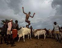 ceremony of bull jumping, hamer tribe