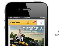 Cub Cadet Mobile Site Design