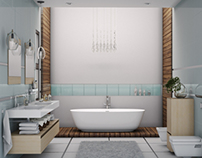 Luxury spa master bathroom