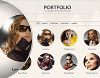 Single Page / One Page PSD Template for Personal Portfo