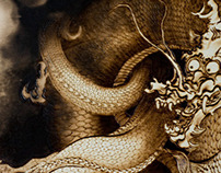 Kano Hogai's dragons