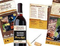 Texas Reds Festival Promotional Materials