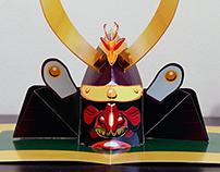 Samurai Kabuto Pop-Up