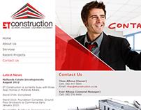 ET Construction Website Design