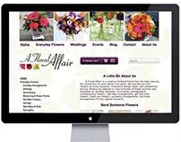 A Floral Affair Web Design