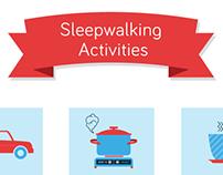Sleepwalking infographic