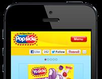 Popsicle Mobile Website