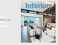 Front Cover of Riveria Interiors Magazine