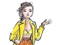 Hand Painted Fashion Illustrations
