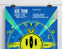 Acid Train party poster